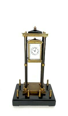 French Style Falling Gravity Driven Bronze Industrial Elevator Industrial Clock 2