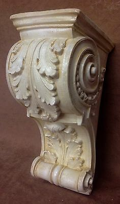 Pair Antique Finish Shelf Acanthus leaf Wall Corbel Sconce Bracket Vintage 7