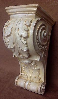 Pair Antique Finish Shelf Acanthus leaf Wall Corbel Sconce Bracket Vintage 7
