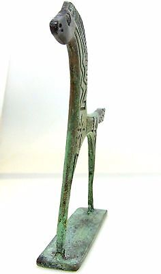 Ancient Greek Bronze Museum Statue Replica Of A Geometric Era Horse Collectable 3