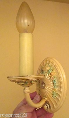 Vintage Lighting antique 1920s bedroom set. One ceiling fixture. Two sconces 4