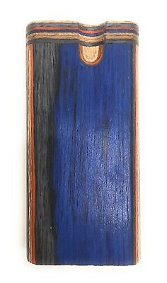 "4"" Colorful Wooden Tobacco Dugout Set with pipe Loaded (3"" Metal One Hitter) 8"
