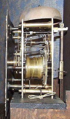 Antique Oak Grandmother / Miniature Grandfather Clock : Weight Driven Movement 11