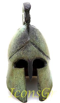Ancient Greek Bronze Museum Replica Of Athenian Helmet (1389) 2