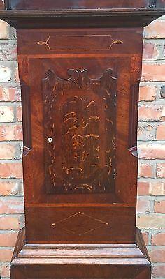 Oak & Mahogany 8 Day Inlaid And Cross Banded Long Case Grandfather Clock 3