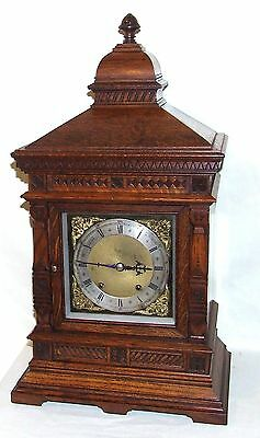 Antique Oak TING TANG Bracket Mantel Clock  Winterhalder & Hoffmeier W & H (a11) 2