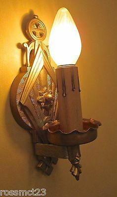 Vintage Lighting seven 1930s Art Deco Spanish Revival sconces by Lincoln 3