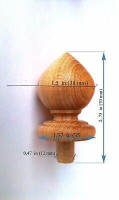 Finials, Wood Finial Post,  Clock, Craft  Wooden Furniture Cap Newel small 3 3