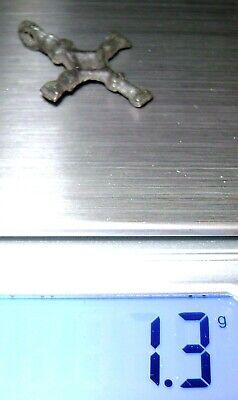 Ancient Rare Vikings Age bronze cast cross pendant. Kievan Rus 5