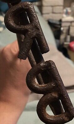 Antique Humber And Ouse River Board Wooden Packing Case Branding Iron Vintage 3