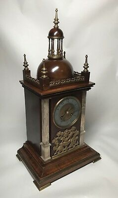 Mid to Late 19th Century Walnut & Brass Bracket Mantel Clock by Planchon. Fusee? 6