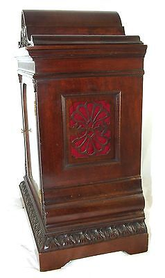 Winterhalder W & H Antique Mahogany TING TANG Bracket Mantel Clock CLEAN SERVICE 8