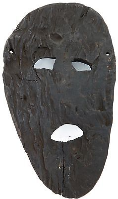 cLATE 1800s MIDDLE HILLS AREA HIMALAYAN CARVED LARGE WOODEN MASK, IMPRESSIVE! #5 6