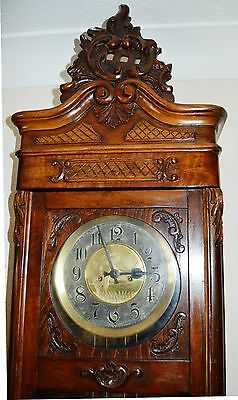 Antique Original Gustav Becker Wall Clock Huge 143 Cm Vienna Regulator 4
