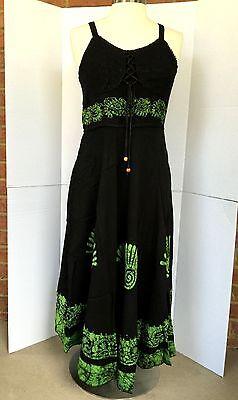 Just Cruising Long Boho Dress NEW Black, Green Womens Free Size Fit M, L, XL 4