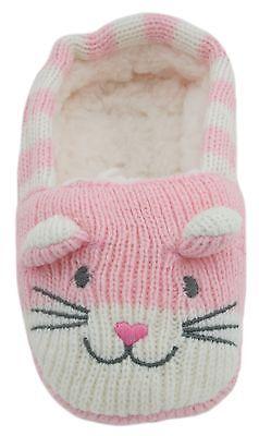 RJM Girls Soft Knitted Cat Slipper Socks with Grippy Soles 5