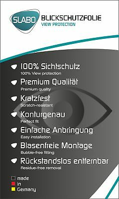 """Slabo Blickschutzfolie für Huawei P20 SCHWARZ """"View Protection"""" 4"""