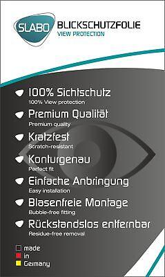 """Slabo Blickschutzfolie für LG G7 ThinQ SCHWARZ """"View Protection"""" 4"""