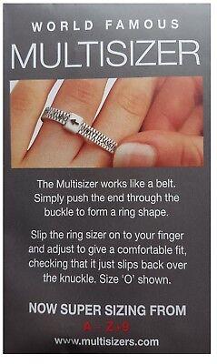 UK Ring Sizer For Measuring UK Ring Sizes A-Z+9  Men Women Children 6