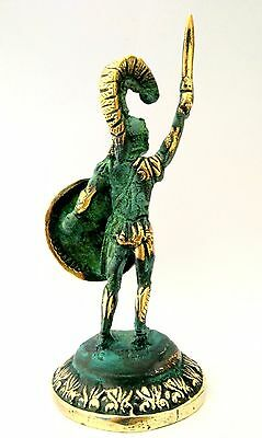 Ancient Greek Bronze Museum Statue Replica of Leonidas With Sword & Shield 300 2