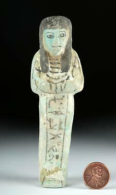 Egyptian Third Intermediate Faience Overseer Ushabti Lot 6