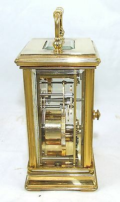 ENGLISH St James LONDON Brass Carriage Mantel Clock 11 Jewels : Working (59) 5