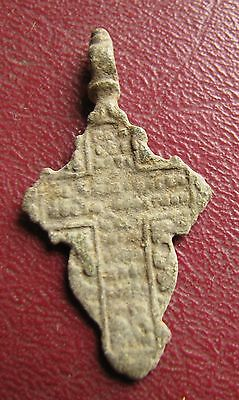 Antique Artifact > 18th-19th C Bronze Russian Orthodox Baptism Cross J15-6 2