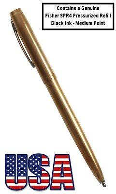 Fisher Space Pen #M4RAW / Raw Brass Cap-O-Matic Ballpoint Pen 7