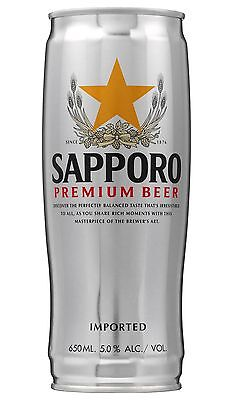 12 X Sapporo Premium Beer Cans 650mL 2