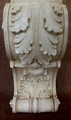 Pair Antique Finish Shelf Acanthus leaf Wall Corbel Sconce Bracket Vintage 9