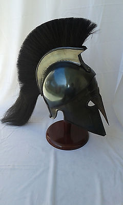GREEK CORINTHIAN HELMET REPLICA BLACK FINISH  Achilles Armor helmet gifts 4