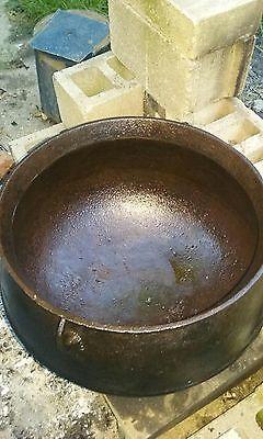 Antique Vintage Large Cast Iron  Witches Cauldron Cast-Iron Pot Awesome 2
