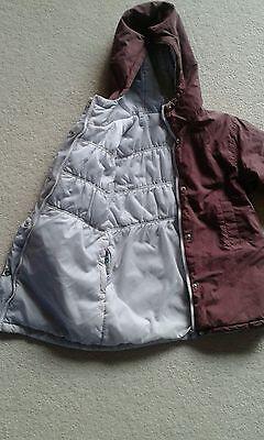Girls Vertbaudet Reversible Coat Jacket age 5 years 2