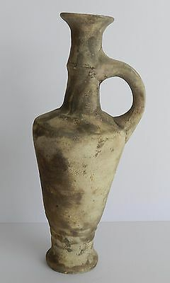Ancient Antique Holy Land Iron Age Wine Pitcher Clay Pottery Jug Terracotta R 5
