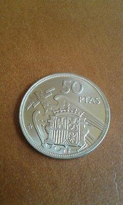 50 Pesetas 1957 *58 1958 Sin Circular 10 Duros Franco España. Estado Español 2