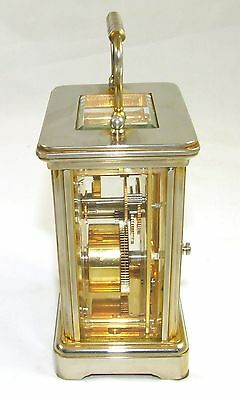 ENGLISH GARRARD & CO LONDON W1 Brass Carriage Clock with Original Box : Working 6