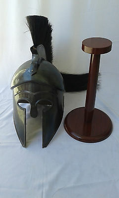 GREEK CORINTHIAN HELMET REPLICA BLACK FINISH  Achilles Armor helmet gifts 2