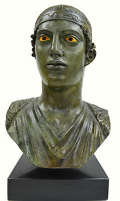 Charioteer of Delphi sculpture marblebased real size Great bronze statue bust 5