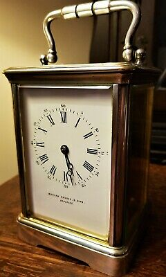 English 19th Century Silver Plated Carriage Clock. 11