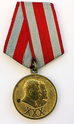Original Soviet Russian USSR Medals 30 Years of the Soviet Army and Navy + DOC 3