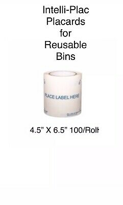 """Food Growers Label Placard Holders 4.5""""X6.5"""" for  Bins/Containers Intelli-Plac 2"""