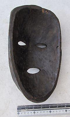 BEAUTIFULLY CARVED Old Tharu Bodhi Tree Wood Shaman Exorcism Mask 2