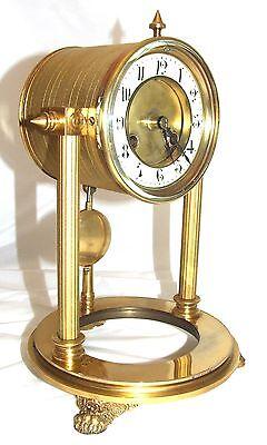 French Antique VINCENTI & CIE Drum Head Brass Striking Bracket Mantel Clock 2