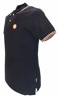 Trojan Records Black Classic Retro Stripe Rib Polo Shirt 2