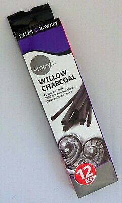 Daler Rowney Willow Artists Sketching Charcoal Sticks Pack12 Assorted Sticks 2