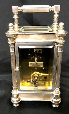 Limited Edition Sterling Silver Vintage Carriage Clock Charles Frodsham London 8