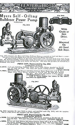 F E Myers Water Well Pumps Hit Miss Engine Powered bulldozer motor tractor gas 2