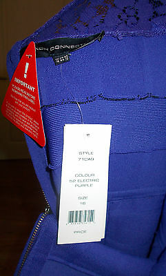 FRENCH CONNECTION GENUINE /'Katie/' Crepe Knitted Bodycon Dress Size 16 RRP £173