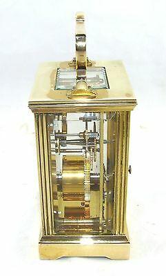 MAPPIN & WEBB Brass Carriage Mantel Clock Timepiece with Key  Working Order (61) 4