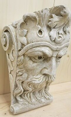 Bearded Man Wall Corbel Bracket Shelf Architectural Accent Home Decor 4